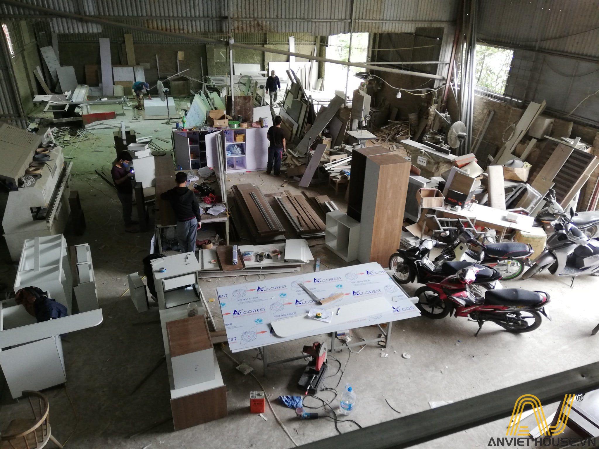 Quy trình sản xuất đồ gỗ công nghiệp