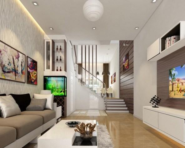 thiết kế phòng khách nhà ống 3m