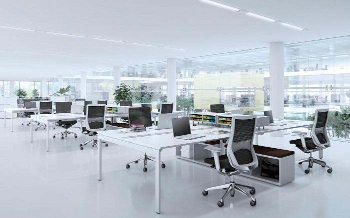 mẫu thiết kế văn phòng làm việc đơn giản