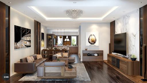 Thiết kế nội thất gỗ óc chó