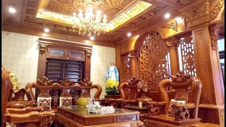 phong cách thiết kế nội thất biệt thự Á Đông