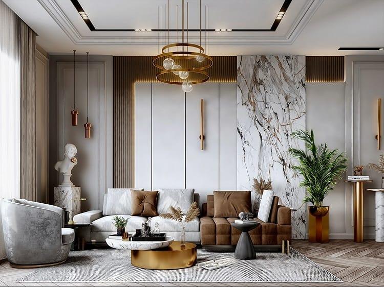 phong cách thiết kế nội thất biệt thự tân cổ điển
