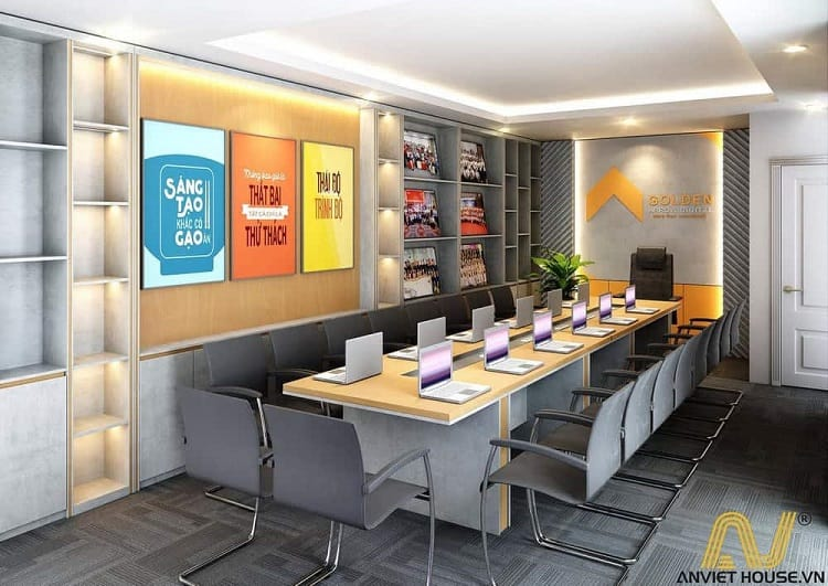 phòng họp phong cách sáng tạo công ty Golden - An Viet House