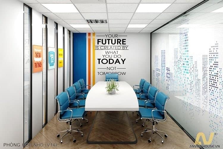 thiết kế phòng họp hiện đại công ty Hương Việt - An Viet House