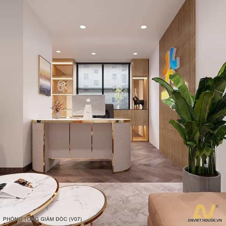 Phòng giám đốc nhỏ công ty Hương Việt - An Viet House thiết kế