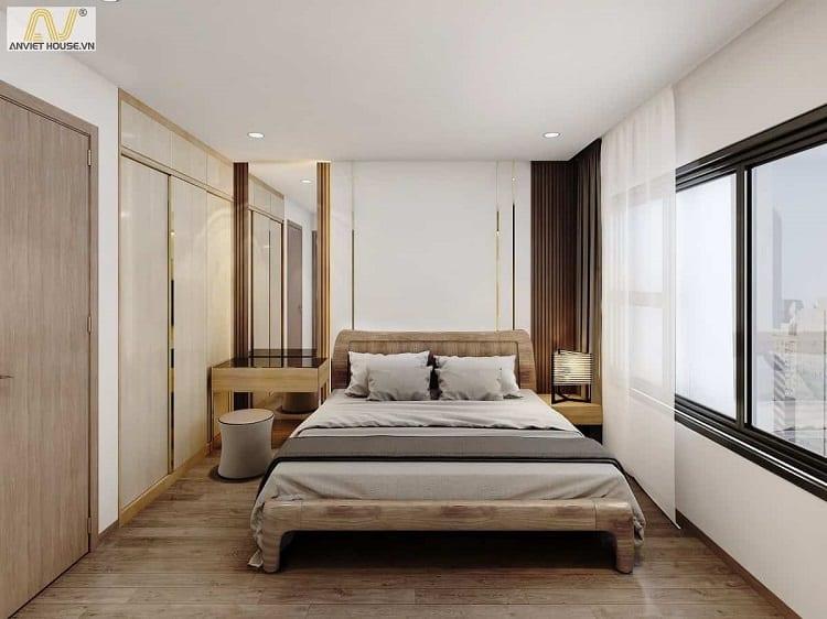 thiết kế nội thất phòng ngủ căn hộ nhỏ