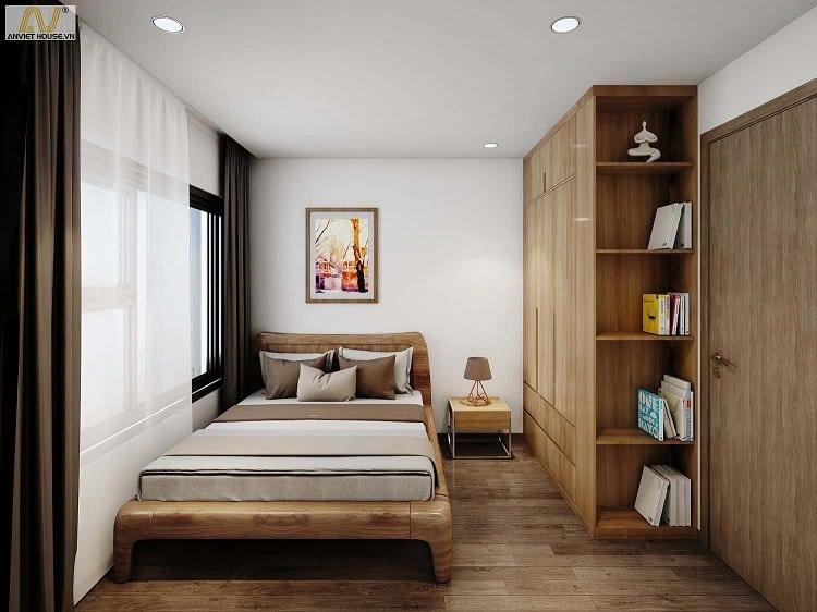 các mẫu thiết kế nội thất phòng ngủ chung cư nhỏ đẹp