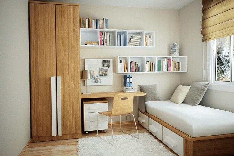 thiết kế phòng ngủ kết hợp phòng làm việc