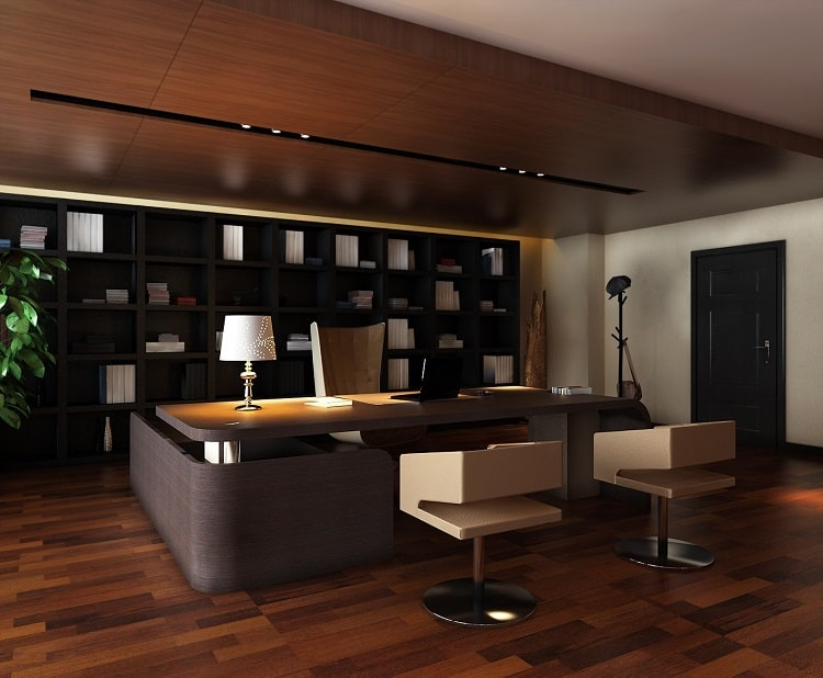 thiết kế nội thất phòng lãnh đạo