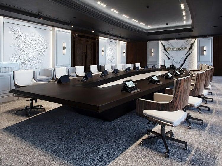 nội thất phòng họp sang trọng