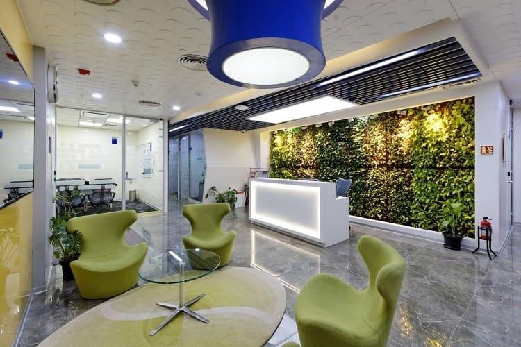 thiết kế nội thất văn phòng xanh