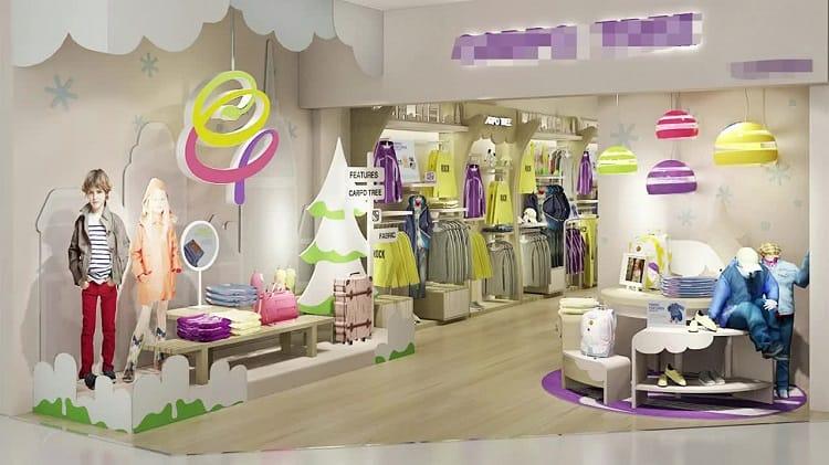 nội thất cửa hàng quần áo trẻ em