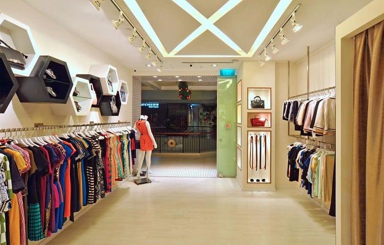 phong cách nội thất cửa hàng quần áo nhỏ