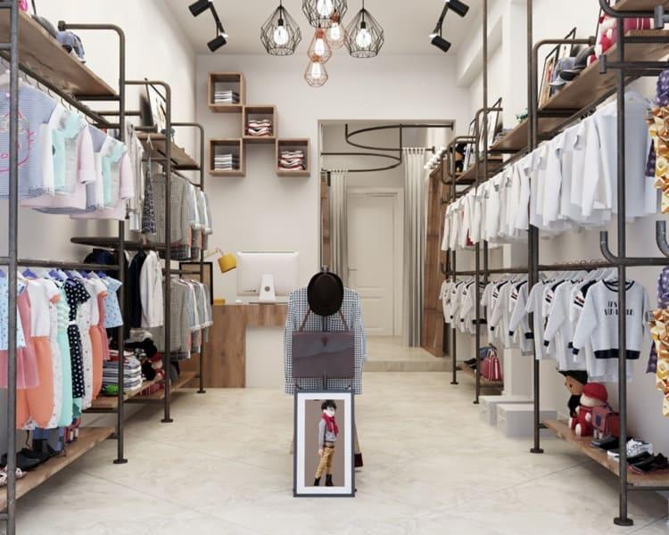 phong cách nội thất cửa hàng thời trang