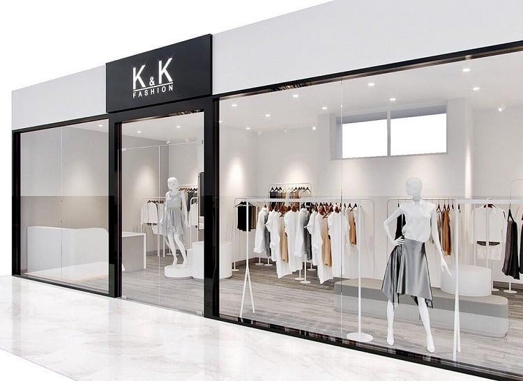 thiết kế nội thất shop thời trang nhỏ xinh