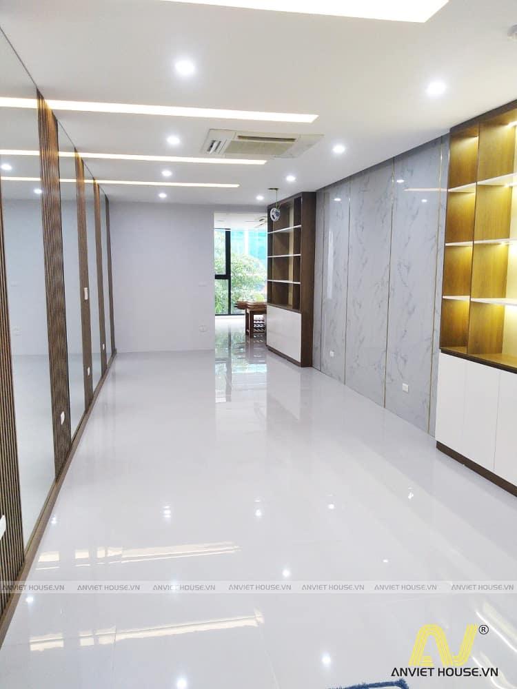 thiết kế thi công nội thất showroom mỹ phẩm spa Daysaky Cầu Giấy