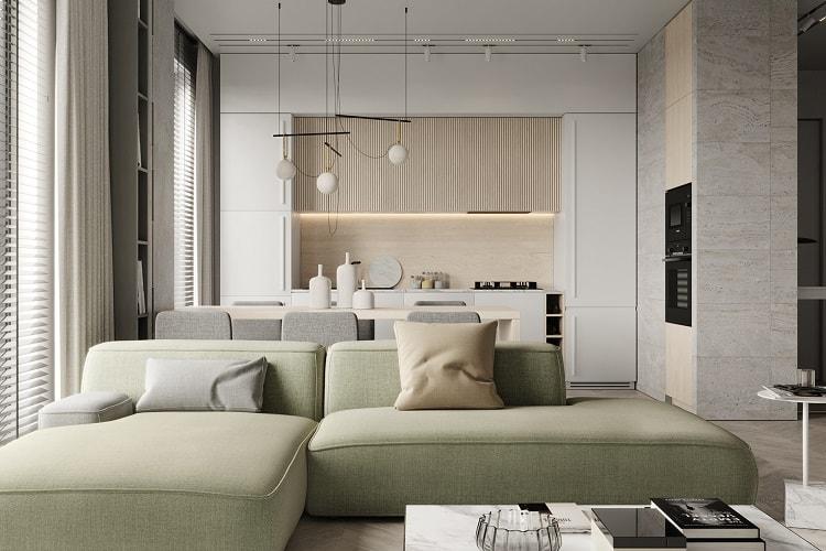 thiết kế không gian nhà bếp đẹp