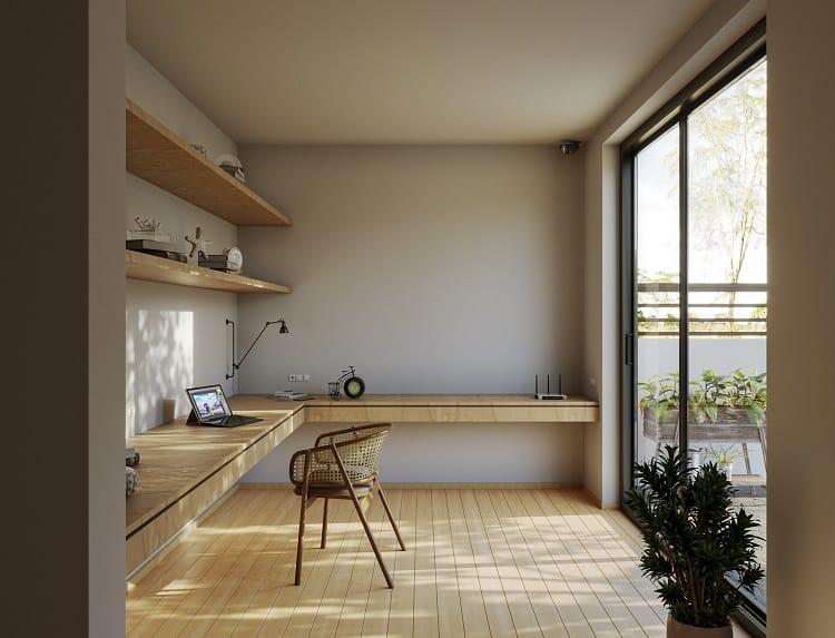 thiết kế phòng làm việc nhỏ tại nhà