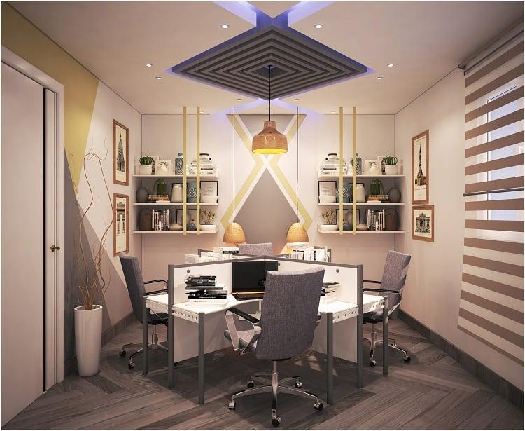 thiết kế phòng làm việc tại nhà diện tích nhỏ